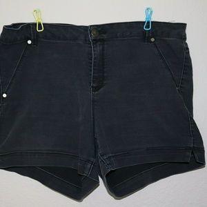 Plus Size Black Shorts
